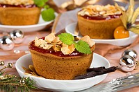 Christmas almond tartlets