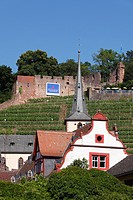 Klingenberg with Clingenburg castle ruins, Mainfranken, Lower Franconia, Franconia, Bavaria, Germany, Europe