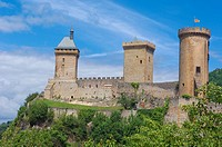 Chateau de Foix castle, Foix, Cathar Country, Ariege, Midi Pyrenees, France