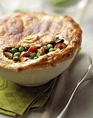 Chicken and pea pie