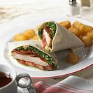 Chicken BLT Wrap with Potatoes