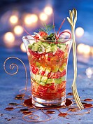 Lobster and avocado Verrine