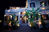 restaurant front at night  Hoi An, Vietnam, Asia