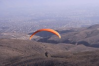 Paraglider in Arequipa, Peru, South America
