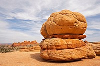 Big Mac with the South Teepees, rock formations in Coyote Buttes North, Paria Canyon-Vermilion Cliffs Wilderness, Utah, Arizona, USA