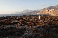 Paleokastro rocky peninsula at Arkassa, Karpathos island, Aegean Islands, Aegean Sea, Dodecanese, Greece, Europe