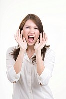 Woman shouting