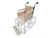 Isolated wheelchair over white background