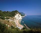 Numana, beach and Monte Conero, Marche, Adria coast, Italy