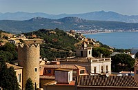Begur  Pella i Forgas tower and Bonaventura Caner Batlle house Indian house  Costa Brava  Girona province  Catalonia  Spain