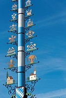 Maypole at Starnberg near Munich,Germany