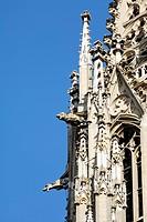 Gargoyles, St Peter cathedral, Regensburg, Upper Palatinate, Bavaria, Germany