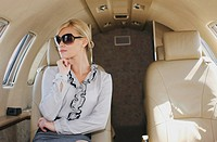 Luxury shopper in personal jet