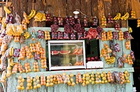 Honduras. Central District. Tegucigalpa. Fruit shop.