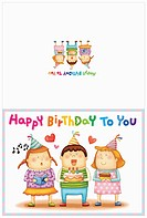 illustration of birthday cards