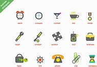 various business pictogram icons