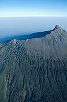Aerial view, volcano Mount Meru in Tanzania, Africa