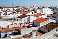 View over the roofs in the old town of Cartaya, Costa de la Luz, Huelva region, Andalucia, Spain, Europe