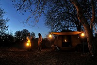 Africa, Botswana, Chobe National Park, camp and tends