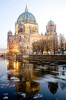 Berliner Dom, Berlin Cathedral, at dusk, Museumsinsel, Museum Island, Berlin, Germany, Europe
