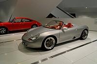 Porsche Boxster concept car, built in 1992, Porsche Museum, Stuttgart, Baden-Wuerttemberg, Germany, Europe