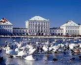 Muenchen, Schloss Nymphenburg im Winter