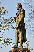 Friedrich Schiller monument, Schiller Museum, Marbach am Neckar, Baden-Wuerttemberg, Germany, Europe