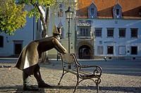 Slowakei, Bratislava Bronzeskulptur