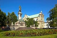 Polen Warschau Mickiewicz Denkmal, Adam Mickiewicz statue in Warsaw Poland