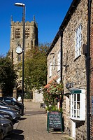 Bedale High Street and Church North Yorkshire England