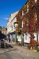 Market Place and Black Swan Hotel Leyburn North Yorkshire England
