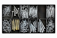 clip image - screws and nails in accessory box or compartments of tool box