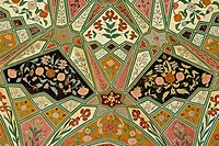 Ceiling details, Amber Fort, Jaipur, India