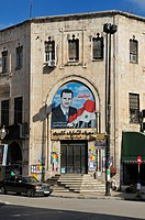 House with portrait of the Syrian president Assad, Lattakia, Syria, Middle East, West Asia