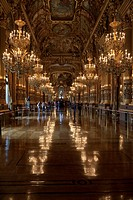 France, Paris. People admire the ornate interior of Opera Garnier. Credit: Bill Young / Jaynes Gallery / DanitaDelimont.com