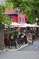 Outdoor cafe, Ljubljana, Slovenia