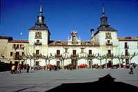 Plaza Mayor. El Burgo de Osma. Soria province. Spain