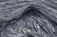 USA, Hawaii, Big Island, Hawaii Volcanoes National Park, Swirls of Pahoehoe lave