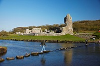 Ogmore Castle, Glamorgan, South Wales, UK
