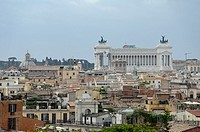 View of Rome with Monument Nazionale a Vittorio Emanuele II, Rome, Italy
