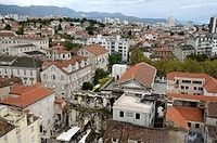Croatia, Dalmatia, Split  Old and new city