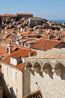 Croatia, Dubrovnik  Old town from the ramparts