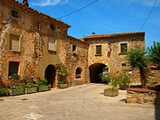 Púbol, medieval town  Catalunya  Spain