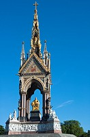 The Prince Albert Memorial in Hyde Park London England
