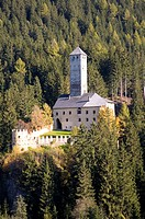 Welsberg Castle in the Gsies valley, St. Magdalena, Province of Bolzano_Bozen, Italy, Europe