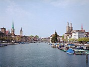 Zurich: Limmat and downtown