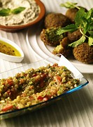 Baba Ganouj _ Mezze or appetizer made of roasted Aubergines