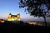 France, Maine et loire, Loire Valley a World Heritage Site of UNESCO, Saumur, castle of Saumur along the Loire river