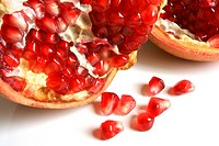 Open pomegranate with seeds