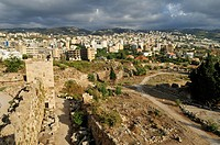 Historic Crusader castle in the archeological site of Byblos, Unesco World Heritage Site, Jbail, Jbeil, Lebanon, Middle East, West Asia
